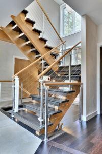 Elegant Stair Case Marble Tiles