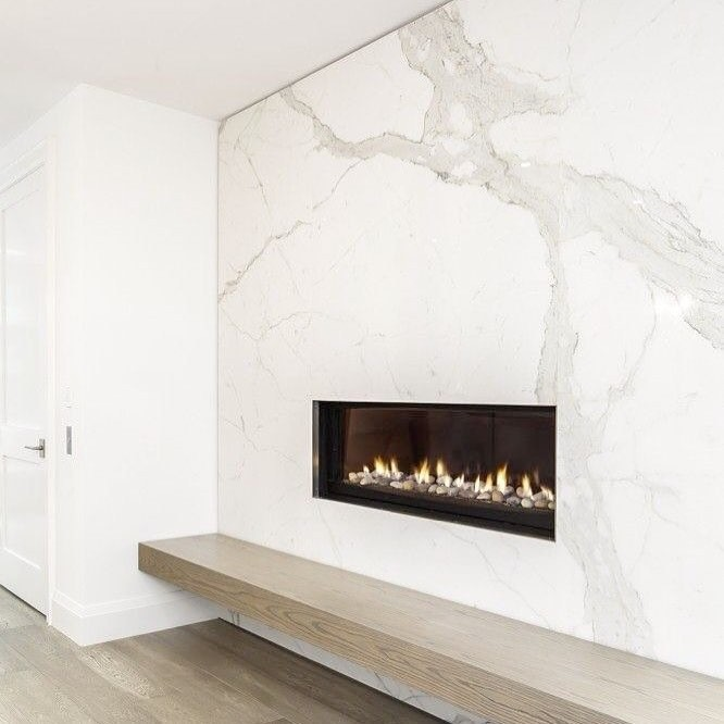 Marble is the Best option for making a fireplace