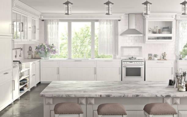 Marble flooring in Kitchen