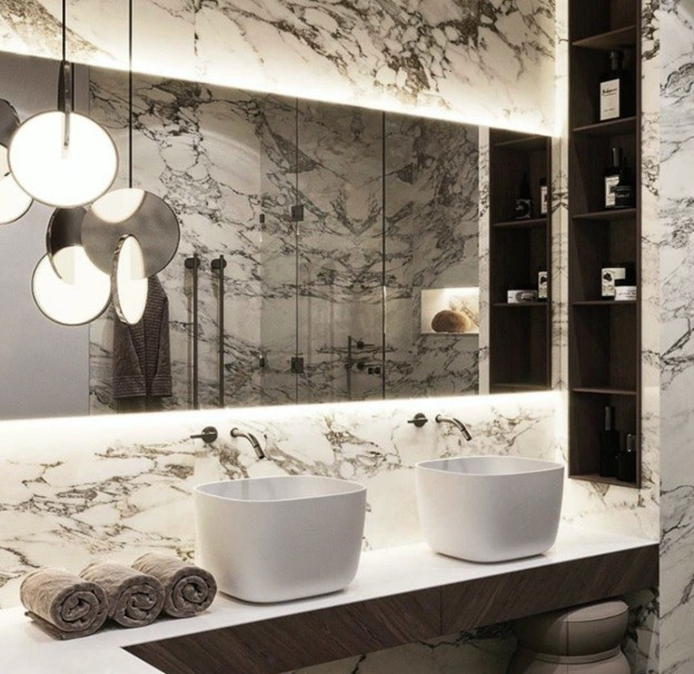Natural Stone Tile to Your Bathroom