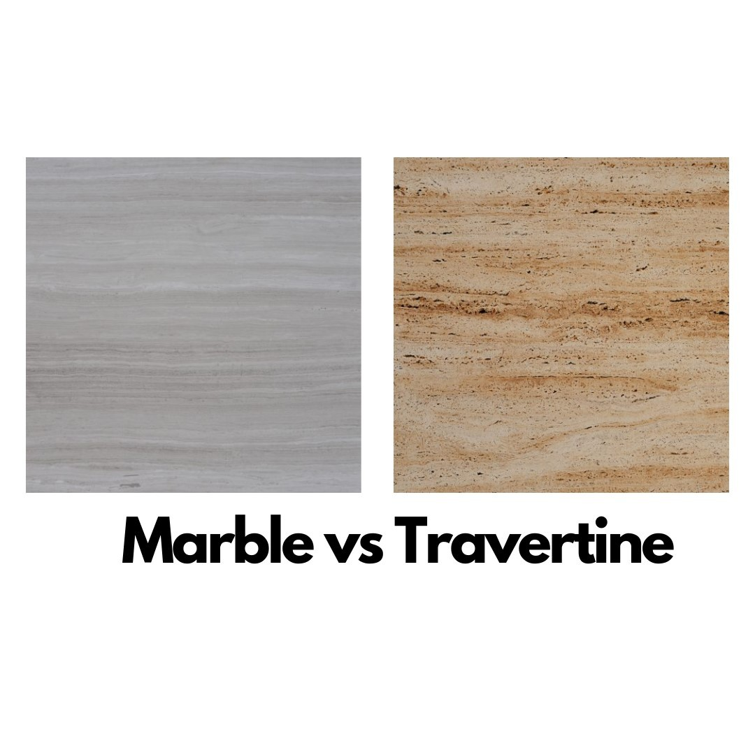 Difference between marble and travertine tiles