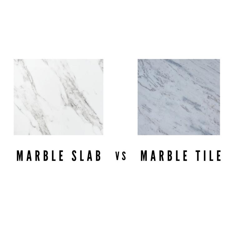 Marble slabs vs Marble tiles
